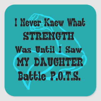 Muscle/I Never Knew...Daughter Square Sticker