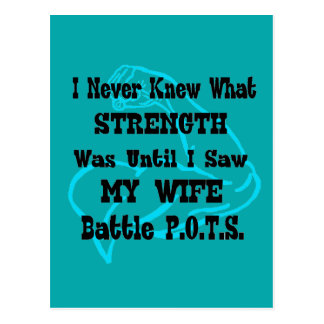 Muscle/I Never Knew...Wife Postcard