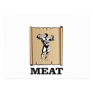 muscle man meat yeah postcard
