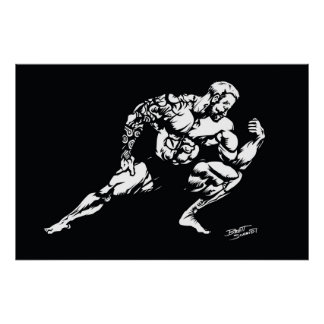 Muscle Tattoo Bodybuilder Poster