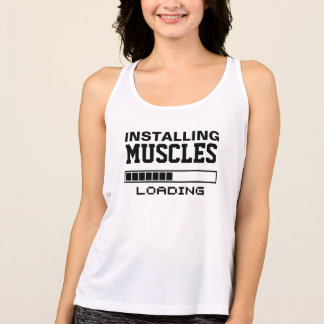 Muscles Funny Geek Tank Top