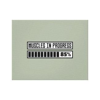 Muscles in progess workout Z1k6x Canvas Print
