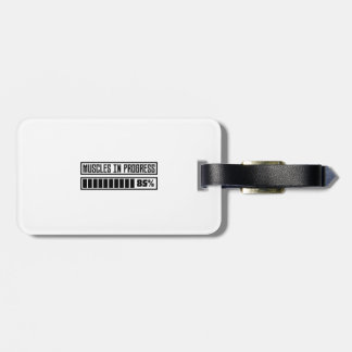 Muscles in progess workout Z1k6x Luggage Tag