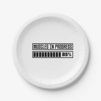 Muscles in progess workout Z1k6x Paper Plate