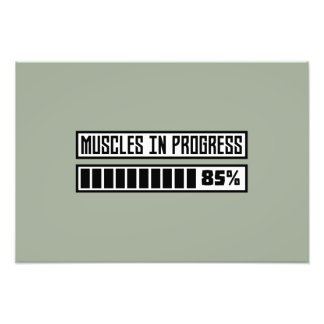 Muscles in progess workout Z1k6x Photo Print