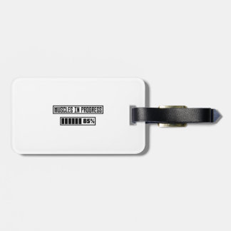 Muscles in Progess workout  Zpf7n Luggage Tag