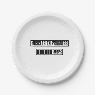 Muscles in Progess workout  Zpf7n Paper Plate