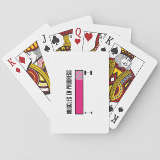 Muscles in Progress GYM Z21z3 Playing Cards