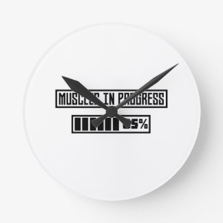 Muscles in progress workout Z1l52 Round Clock