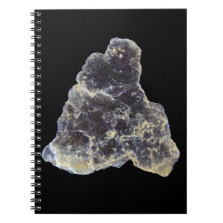 Muscovite Mica Photo on Black Background Notebooks