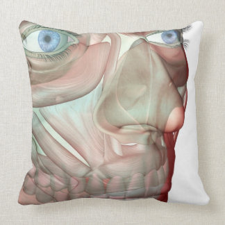 Musculoskeleton of the Face 2 Throw Pillow