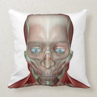Musculoskeleton of the Head and Neck 7 Throw Pillow