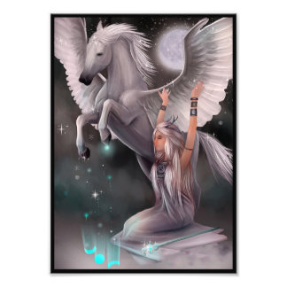 Muse and Pegasus Photo Print
