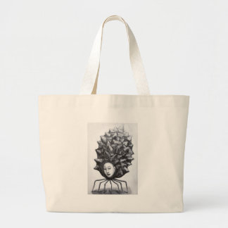 Muse in a shell (surrealism) large tote bag