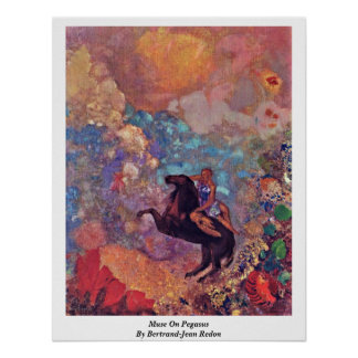 Muse On Pegasus By Bertrand-Jean Redon Poster