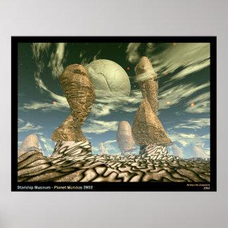 Musée de Starship - planète Mandos 2902 Posters