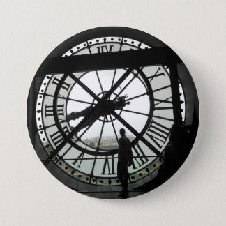 Musée d'Orsay Clock badge 3 Inch Round Button