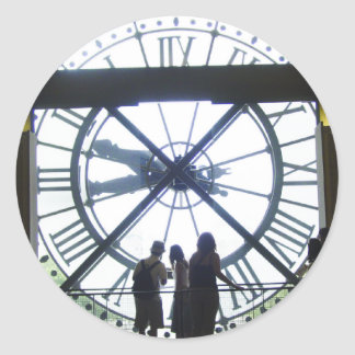 Museé d'Orsay Clock Classic Round Sticker