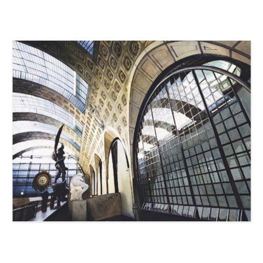 """""""Musee d'Orsay"""" Paris Museum Watercolor Postcard"""
