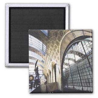 """Musee d'Orsay"" Paris Museum Watercolor Square Magnet"