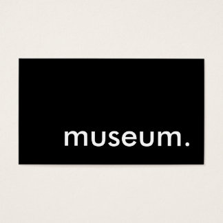museum. business card