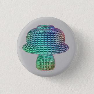 mushroom 1 inch round button