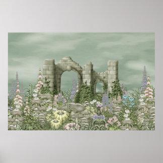 Mushroom Abbey Poster