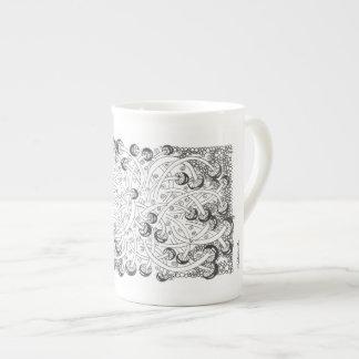 "Mushroom abstract design ""Roundtoits"" mug"