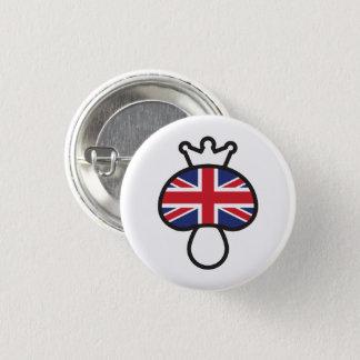 Mushroom British flag 1 Inch Round Button