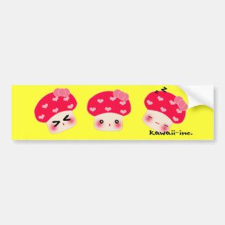 Mushroom bumper sticker! bumper sticker
