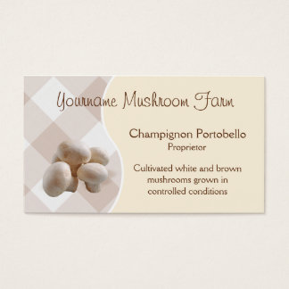 Mushroom business card