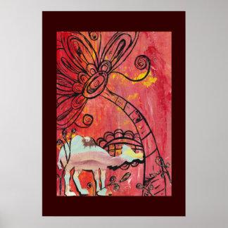 Mushroom Camel Poster
