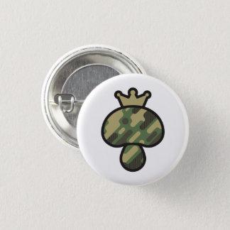 Mushroom Camouflage pattern 1 Inch Round Button
