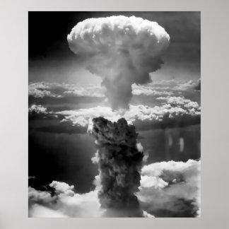 MUSHROOM CLOUD over HIROSHIMA 1945 Poster