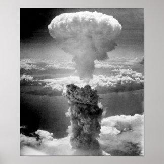 Mushroom Cloud Over Nagasaki -- WW2 Poster
