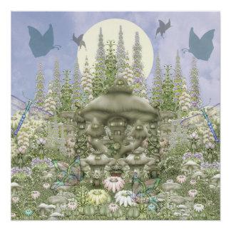 Mushroom Club -- Garden Manor Perfect Poster