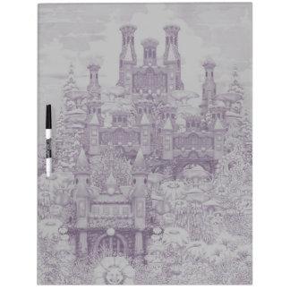 Mushroom Club -Pink Castle Dry Erase Board