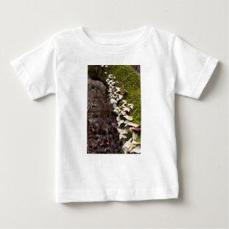 mushroom_downed tree_moss_winter baby T-Shirt