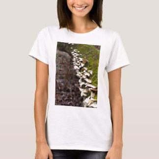 mushroom_downed tree_moss_winter T-Shirt