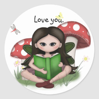 """Mushroom Fairy"" Cute Sticker"