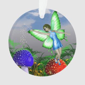 Mushroom Fairy Ornament