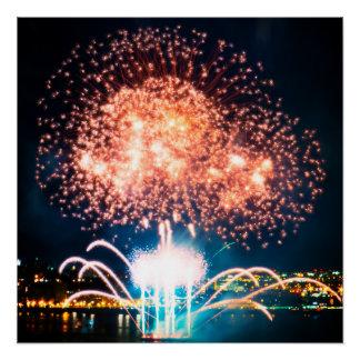Mushroom Fireworks Poster