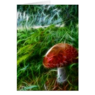 Mushroom Fractal Forest Card