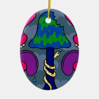 Mushroom Gloom #2 Ceramic Ornament