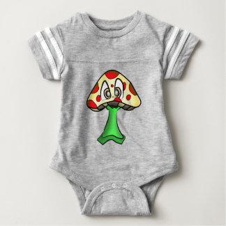 Mushroom Head Design Baby Bodysuit