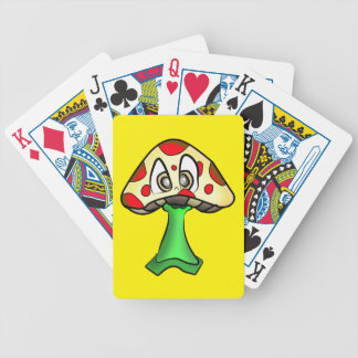 Mushroom Head Design Bicycle Playing Cards