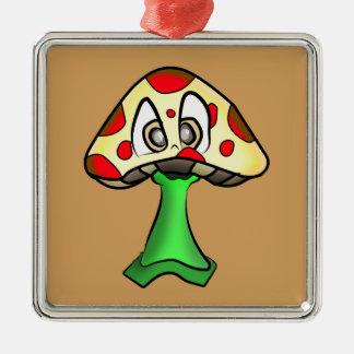 Mushroom Head Design Metal Ornament