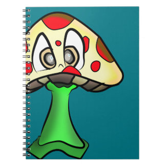 Mushroom Head Design Notebook