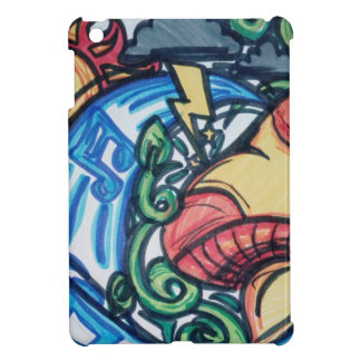 Mushroom hippie iPad mini cover