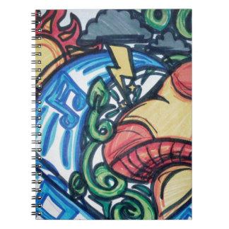 Mushroom hippie notebook